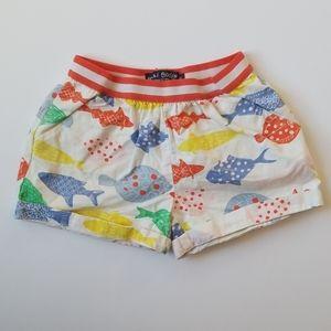 Mini Boden Colorful Fish Shorts